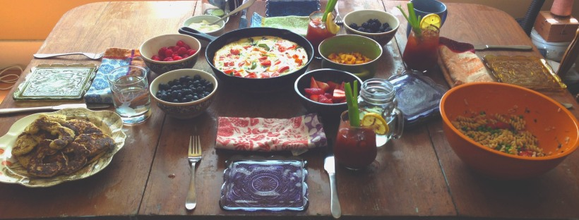 Brunch table