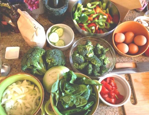 Brunch veggies