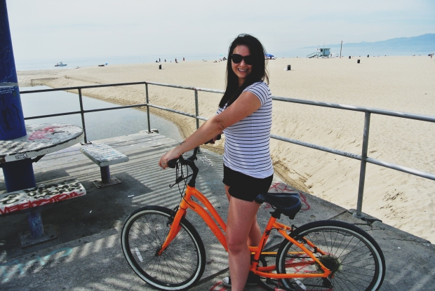 Biking in Santa Monica